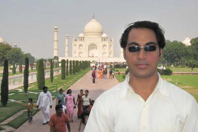 That is me, Taj Mahal needs No introduction